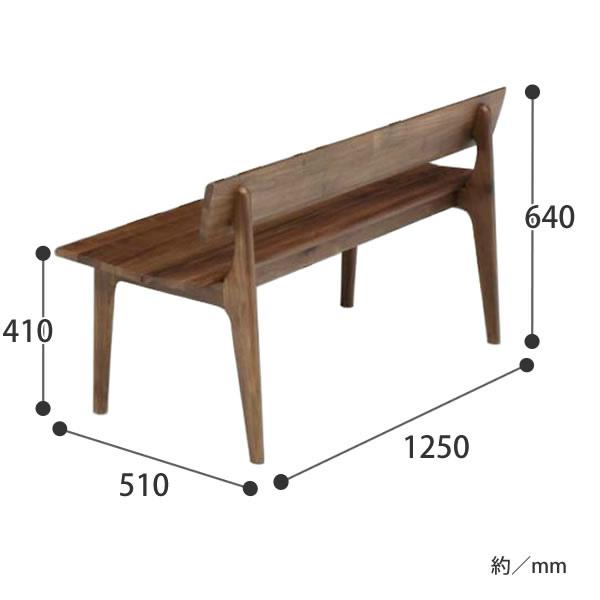 ダイニングベンチ フラン125