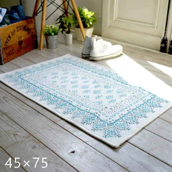 エジプト綿を使ったウィルトン織り玄関マット サレ/ラバト 45×75cm スミノエ
