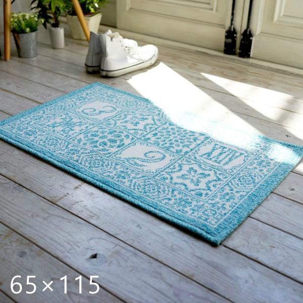 エジプト綿を使ったウィルトン織り玄関マット サレ/ラバト 65×115cm スミノエ